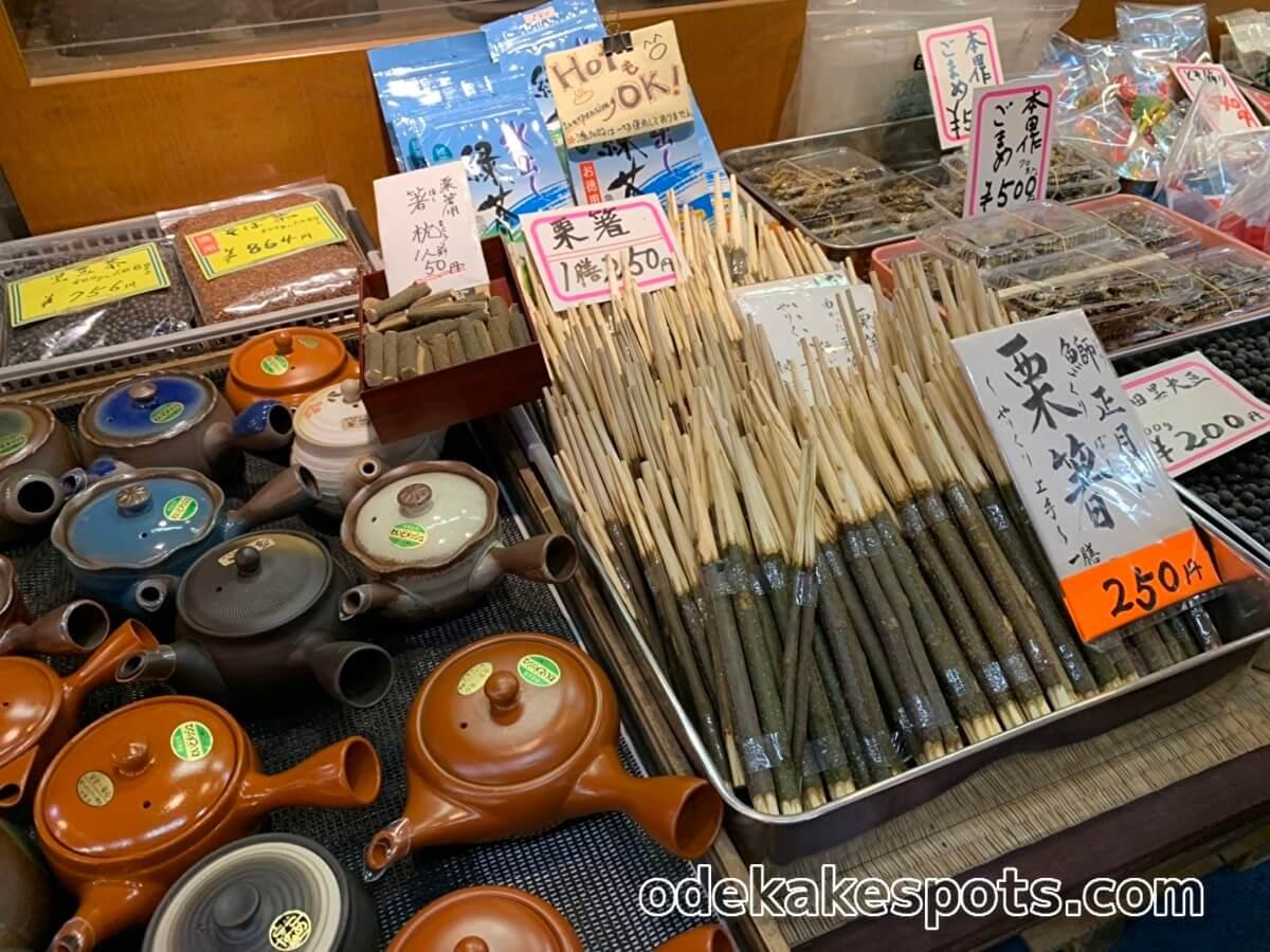 柳橋連合市場 栗箸 くり箸