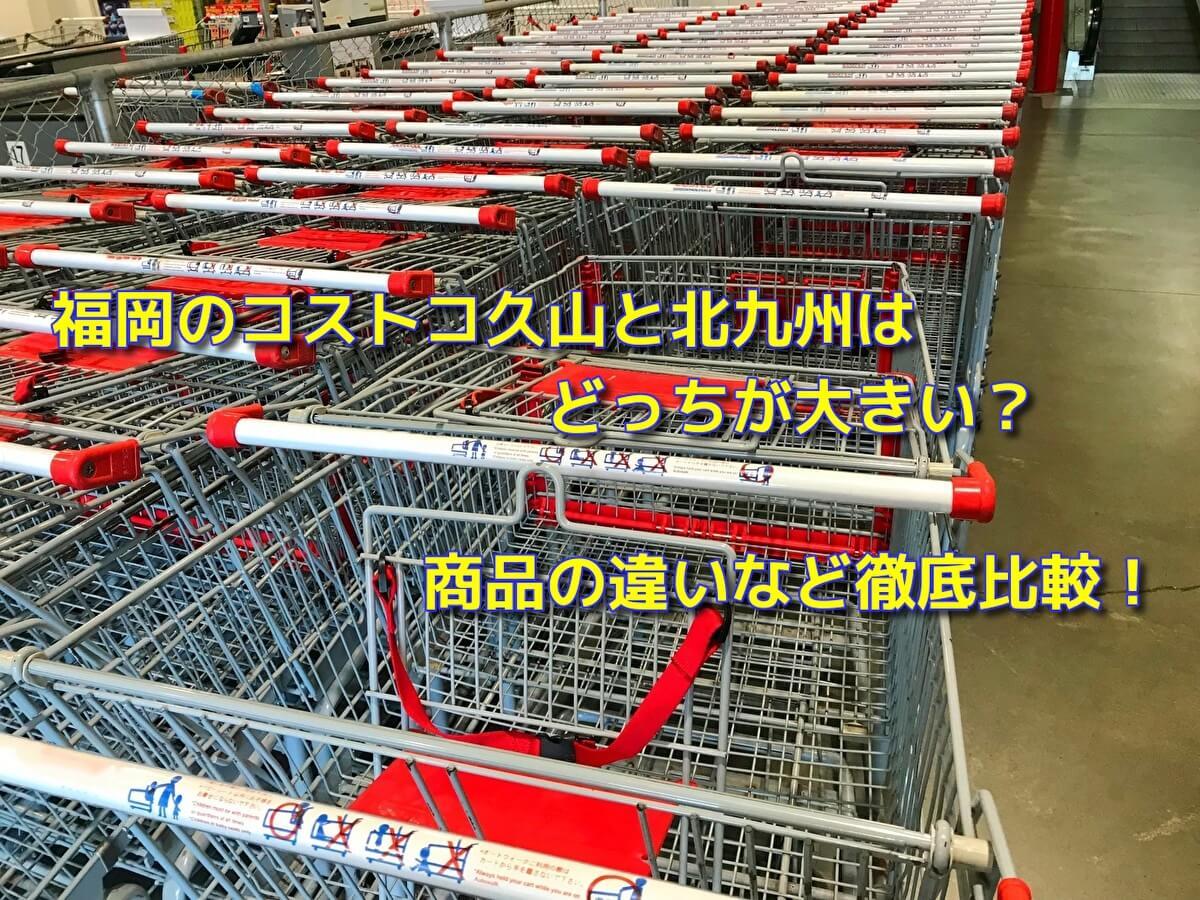福岡のコストコ久山と北九州はどっちが大きい?商品の違いなど徹底比較!