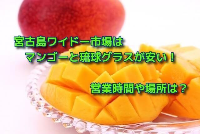 宮古島ワイドー市場はマンゴーと琉球グラスが安い!営業時間や場所は?