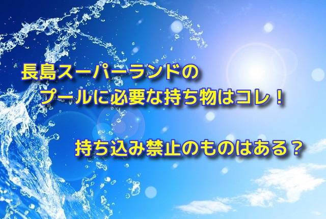 長島スーパーランドのプールに必要な持ち物はコレ!持ち込み禁止のものは?