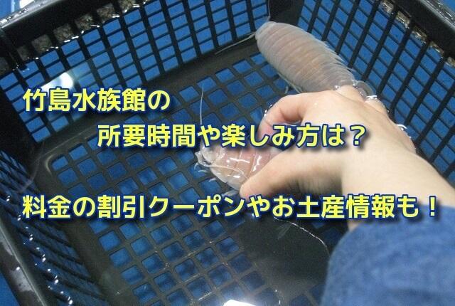 竹島水族館の所要時間や楽しみ方は?料金の割引クーポンやお土産情報も!