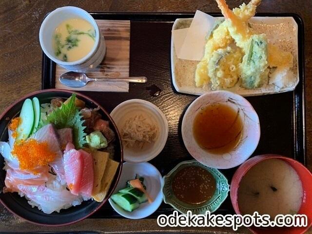 塚本鮮魚店 糸島 ランチ メニュー 特上海鮮丼 天ぷら
