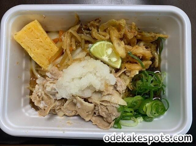 丸亀製麺,夏,うどん弁当,豚の冷しゃぶ