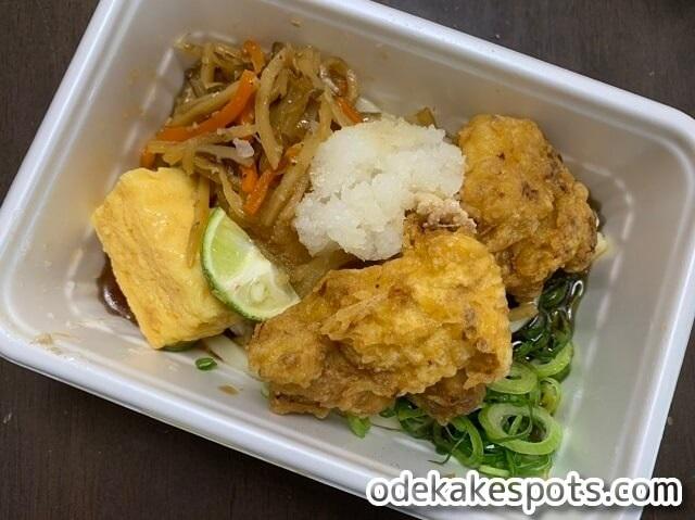 丸亀製麺,夏,うどん弁当,鶏天,おろし